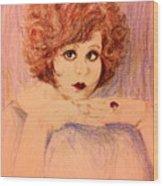 Clara, Redhead Wood Print