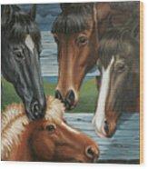 Claras Pony Wood Print