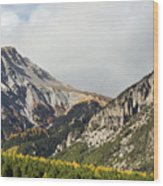 Claree Valley In Autumn - 12 - French Alps Wood Print