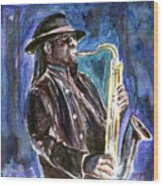 Clarence Clemons Wood Print