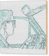Clarence Driving Blue Wood Print