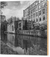 Clarence Mill, Bollington, England Wood Print