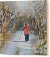 Clare's Lane Wood Print