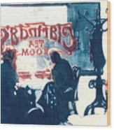 Clarinda's Tea Room Wood Print