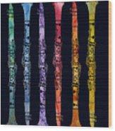 Clarinet Rainbow Wood Print by Jenny Armitage