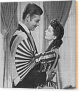 Clark Gable And Vivien Leigh Wood Print