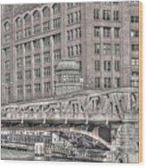 Clark Street Bridge Wood Print