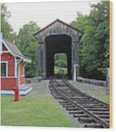 Clark's Bridge, Lincoln, N.h. Wood Print
