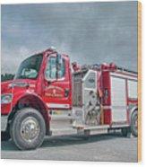 Clarks Chapel Fire Rescue - Engine 1351, North Carolina Wood Print