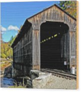 Clark's Trading Post Railroad Covered Bridge Wood Print