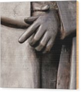 Clasped Hands - Sculpture Garden Nola Wood Print