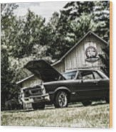Class Cars Wood Print
