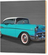 Classic 1957 Chevrolet Bel Air Sport Coupe Wood Print