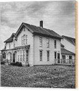 Classic American House Wood Print