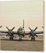 Classic B-29 Bomber Aircraft Wood Print