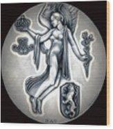Classic Belgium Royal Crown Wood Print