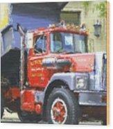 Classic Brockway Dump Truck Wood Print