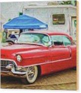 Classic Cadillac Wood Print