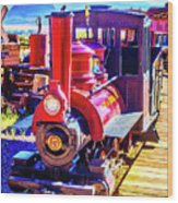 Classic Calico Train Wood Print