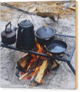 Classic Camp Cooking Wood Print