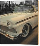 Classic Car Cheve Wood Print