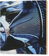Classic Car Chrome Abstract Reflected Grill Wood Print
