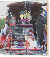 Classic Car Decor Day Of The Dead  Wood Print