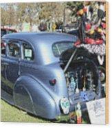 Classic Car Decorations Day Dead  Wood Print