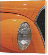 Classic Car Details Wood Print