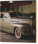 Classic Car Psalm Eighty Four Vs Tweleve Wood Print