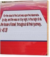 Classic Car With Text Wood Print