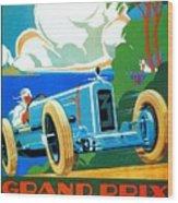 Classic Cars Motor Racing Grand Prix French Riviera 1929  Wood Print