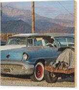 Classic Chevy True Blue Wood Print