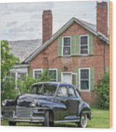 Classic Chrysler 1940s Sedan Wood Print