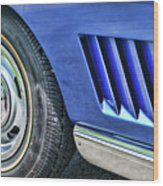 Classic Corvette Mako Shark 1965 Wood Print