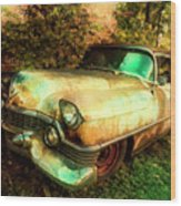 Classic Country Cadillac Painting  Wood Print