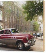 Classic Cuba Car Vii Wood Print