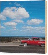 Classic Cuba Car V Wood Print