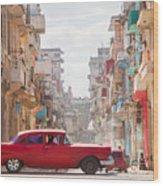 Classic Cuba Car Viii Wood Print