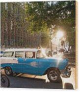Classic Cuba Car Xii Wood Print