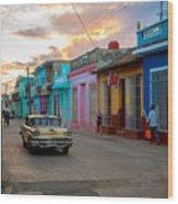 Classic Cuba Cars X1 Wood Print
