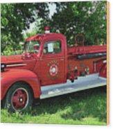 Classic Fire Truck Wood Print