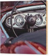 Classic Ford Convertible Interior Wood Print