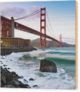 Classic Golden Gate Bridge Wood Print