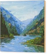 Classic Gorge Wood Print