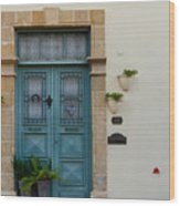 Classic House Entrance In Old Nicosia Wood Print