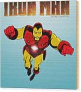 Classic Iron Man Wood Print