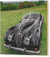 Classic Jag Wood Print