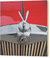 1936 Mg Ta Radiator And Mascot Wood Print