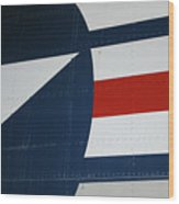 Classic Military Aircraft Abstract- Star 5 Wood Print